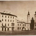 Ebnerov dom a dom č. 23, na mieste ktorého dnes stojí budova Banskobystrického samosprávneho kraja