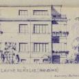 projekt, hlavné priečelie orientované do ulice (zdroj: štátny archív)