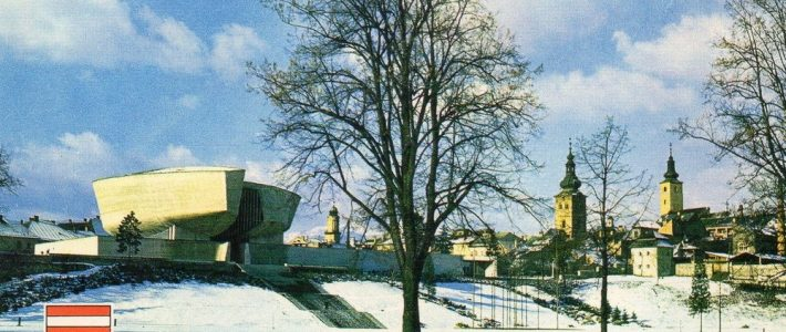 Banská Bystrica v zime – na pohľadniciach
